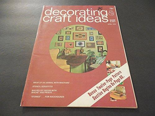 (Decorating Craft Ideas April 1972 Bas-Relief Decor; 12 Pg Pattern)