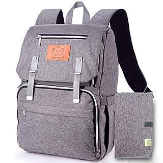Diaper Bag Backpack, Waterproof Multi Function Baby Travel Bags (Classic Gray)