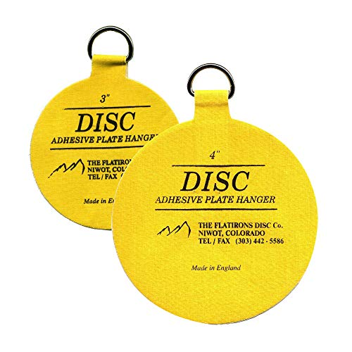 Flatirons Disc Adhesive Plate Hanger Set (2-3 Inch and 2-4 Inch Hangers)