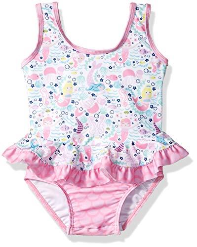 Flap Happy Baby Girls UPF 50+ Stella Infant Ruffle Suit, Malibu Mermaid, 24M ()