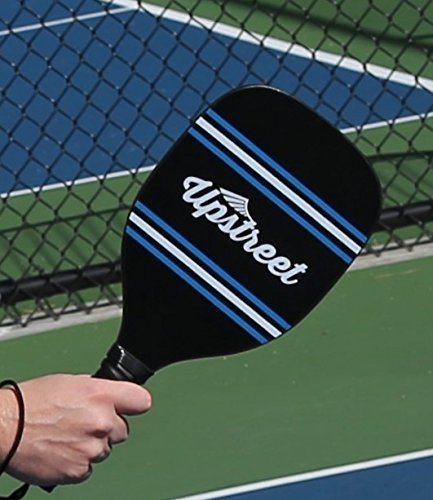 Upstreet Wood Pickleball Paddle Set with 7 Plywood Maple Construction | Micro-Dry Racket Grip | Bundle Includes Pickleball Paddle Carrying Bag