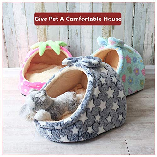 Flyingpets Dog Pillow Bed - Dog Bed Pillow - Large Dog Bed Pillow - Pet Bed Dog House Kennel Puppy Cat Litter Bed Home Shape Nest Sofa Indoor Small Dogs Cats Cushion Removable Pillow Chihuahua Mat.