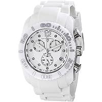 Swiss Legend Men's SL-10127-02-SA Commander Diamonds White Ceramic Case Silicone Strap Analog Display Swiss Quartz Watch