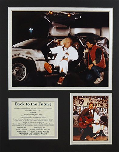 """Back to the Future 11"""" X 14"""" Unframed Matted Photo Collage By Legends Never Die, Inc."""