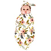 Ufraky Baby Swaddle Blanket Bedding Cover Headband Set Newborn Photography Props (Style 1)
