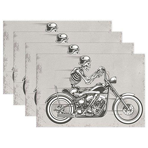 BAIHUISHOP Skull Motorcycle 12x18