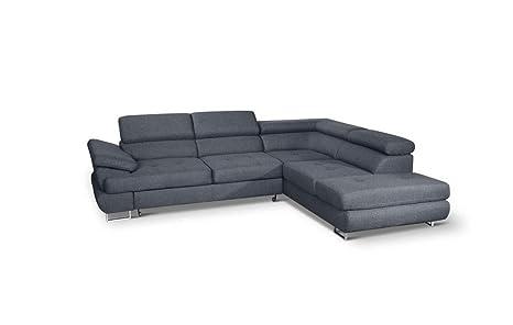 Amazon.com: Luton Sofá cama seccional, esquina derecha, Gris ...