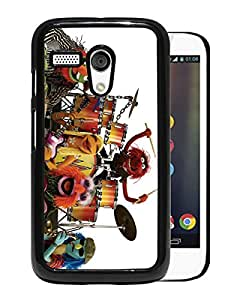 Beautiful Designed Cover Case For Motorola Moto G With muppets band Black Phone Case