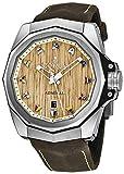 Corum Admiral 45 Titanium Automatic Wood Dial Mens Strap Watch Calendar 082.500.04/0F62 AW01