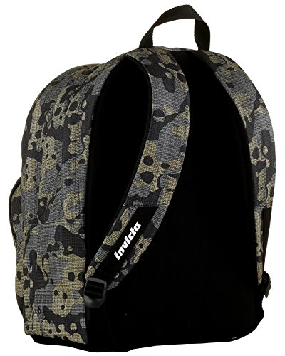 Leisure Lt Invicta Format Double Pink Arancione Backpack School Multicolour Camouflage Camou Compartment 31 amp; wRPafYqx