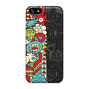 High Impact Dirt/shock Proof Case Cover For Iphone 5/5s (monstrous Sides) by icecream design