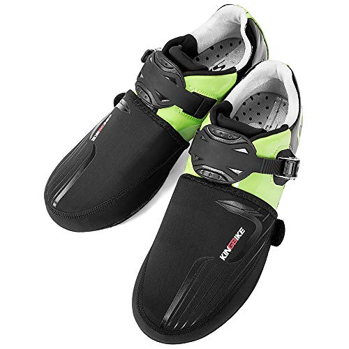 KINGBIKE Toe Covers Bike Shoe Covers Cycling Cover Winter Waterproof Windproof Overshoes Foot Bicycle Booties Socks(Black)