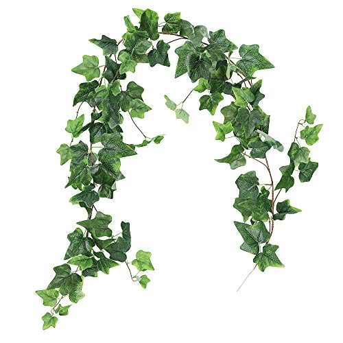 (Supla 5.7' Long Artificial Needle Ivy Garland Faux Needlepoint Ivy Leaf Garland Wedding Greenery Backdrops Garland in Green for Tables Chairs Wedding Arches Spring Backyard )