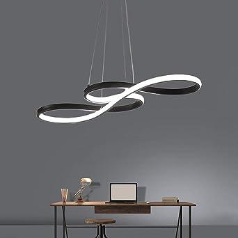 Tatosun Suspension Led A Intensite Variable Style Moderne Lampe A Manger Lampe De Salle A Manger Plafonnier 58w Telecommande Acrylique