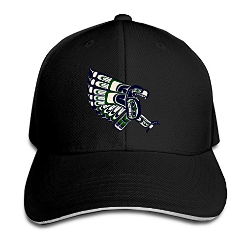Huma Football Seattles Seahawk Casquette Sandwich Hat Peaked Cap Black