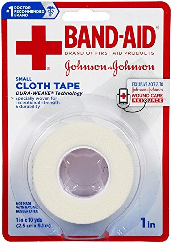Small Cloth Tape, 1 x 10 Yard Pack of 2