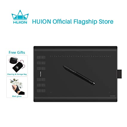 Huion 1060Plus Graphics Drawing Tablet 8192 Pressure Sensitivity Pen Tablet and Built-in Card Reader 8 MicroSD Card 5080 LPI Graphic Tablets at amazon