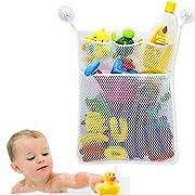 Cudon Bath Toys Organiser Bathroom Storage - Tub Net Bag 3 Strong Suction Cups Hook