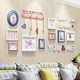LQQGXL Modern minimalist wood photo wall combo creative photo wall living room bedroom photo wall Photo frame ( Color : #2 )