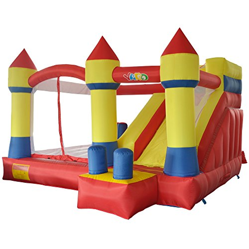 YARD Inflatable Bouncer Slide Obstacle Combo Children Outdoor Jumping Castle with Blower 13.1'x12.5'x8.2'