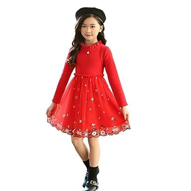 dd12ffccc Amazon.com  little dragon pig Kids Christmas Winter Dress Girl ...