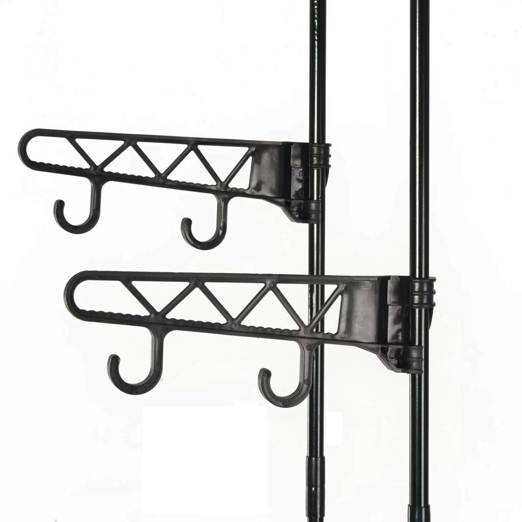 vidaXL Perchero para Ropa 55x28,5x175 cm Negro Acero Textil Colgador Ropero