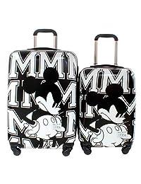 """Set 2 Maletas Mickey Mouse 20"""" y 24"""" con ruedas 360°"""