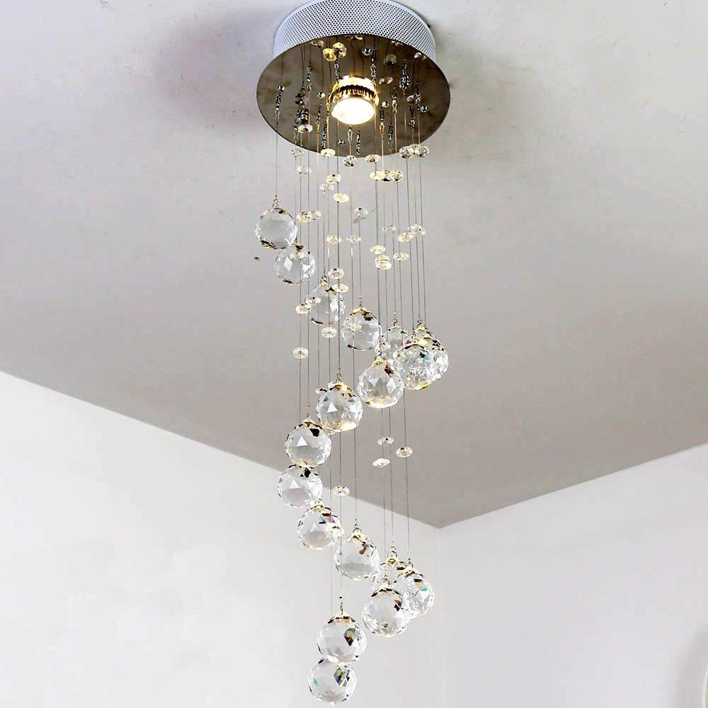 Natsen® LED Kristall Deckenlampe Deckenleuchte Designer Hängelampe Lampe GU10 Warmweiss