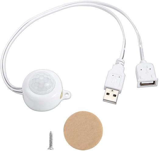 Sensor de Movimiento Interruptor de bajo Voltaje USB Ajustable Luz LED Ahorro de energía para Cocina Refrigerador Pasillo Escaleras: Amazon.es: Hogar