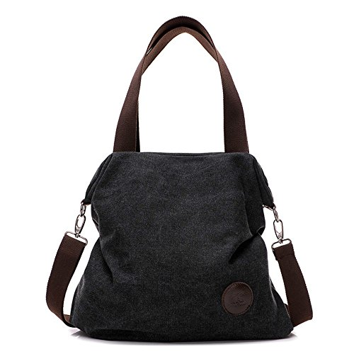OEM - Bolso mochila  para mujer gris blanco negro