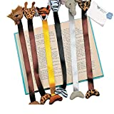 Bargain World Plush Zoo Animal Bookmarks (With Sticky Notes)