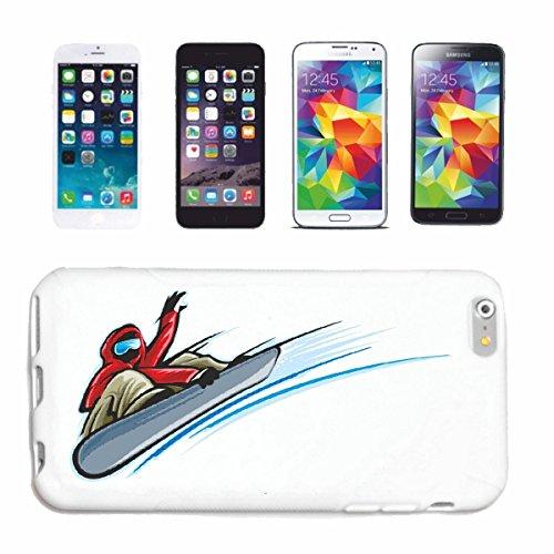 """cas de téléphone iPhone 7+ Plus """"VINTAGE SNOWBOARD SNOWBOARD RIDER SNOWBOARDER WINTER SPORT PISTES"""" Hard Case Cover Téléphone Covers Smart Cover pour Apple iPhone en blanc"""