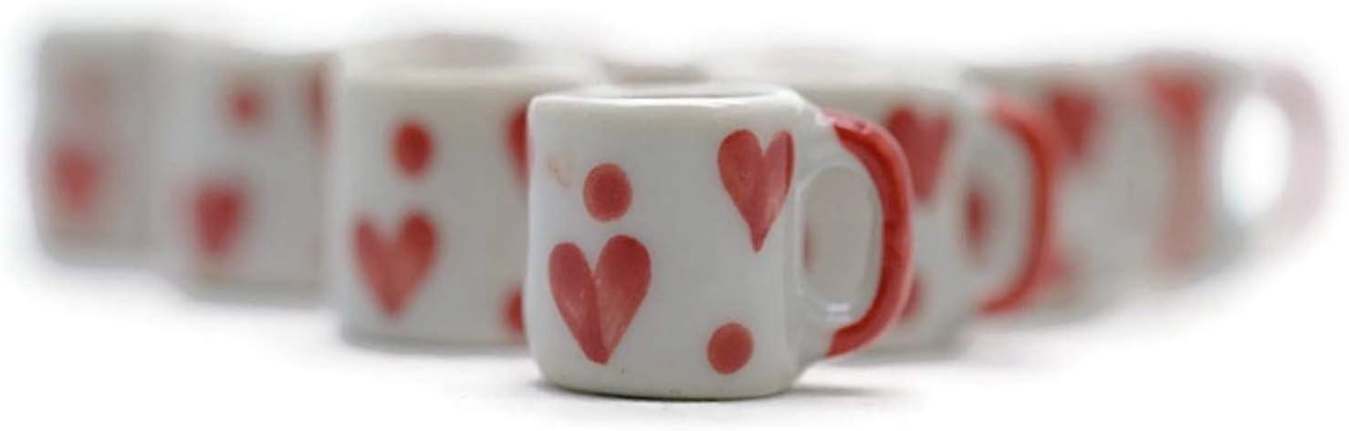 Buy Easy 10 Lovely Coffee Mug Tea Vintage Cup Dollhouse Miniatures Food Kitchen Decoration