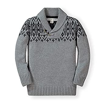 Hope & Henry Boys' Shawl Collar Sweater - Gray - 3-6 Months