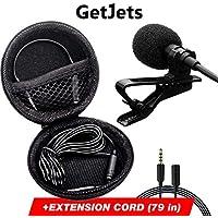 Professional Lavalier Microphone - Long Cord Lapel Mic -...