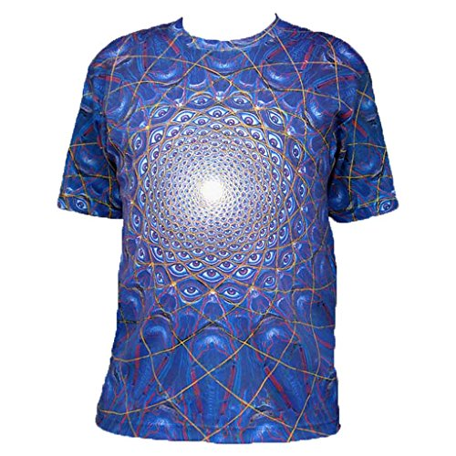 Collective Vision Art Alex Grey T-Shirt Crystal Tara - CT71-78 (Medium), Blue