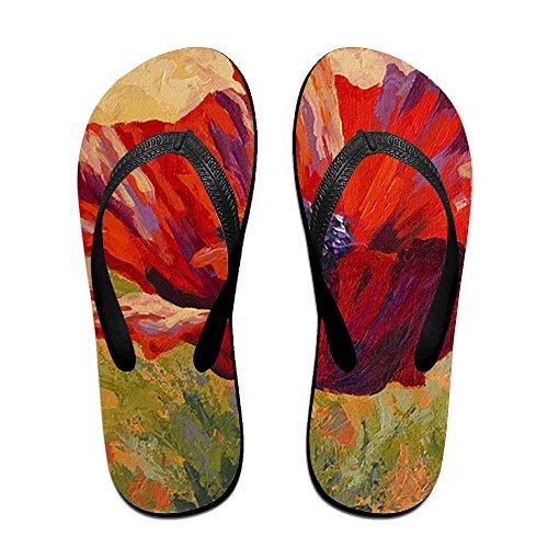 Slippers Flops Painting Flip PTJHKET Women Men Red Flower Oil for Kids SBwYn5qp