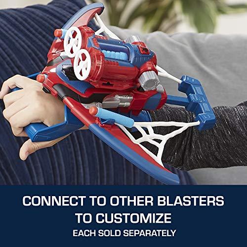 51Z5zCvgeKL - Spider-Man Web Shots Spiderbolt Nerf Powered Blaster Toy for Kids Ages 5 & Up