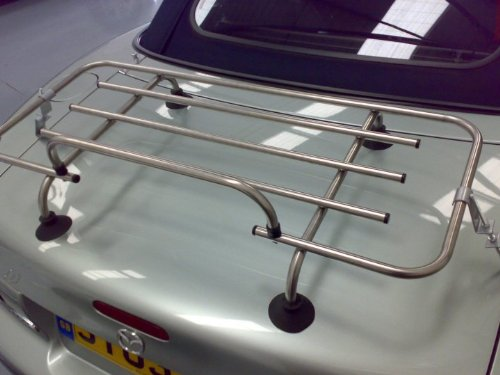 MAZDA MX5 MK2 CLASSIC CHROME LUGGAGE RACK BOOT RACK