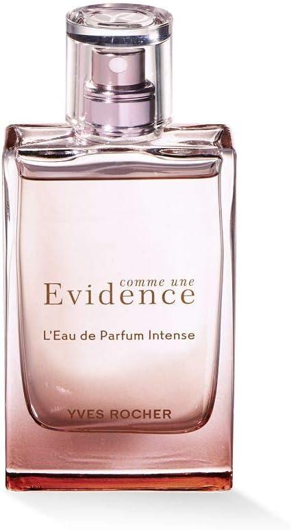 Yves Rocher COMME UNE EVIDENCE Eau de Parfum Intense Perfume floral con rosa, maderas blancas y jazmín, idea de regalo, 1 vaporizador de 50 ml