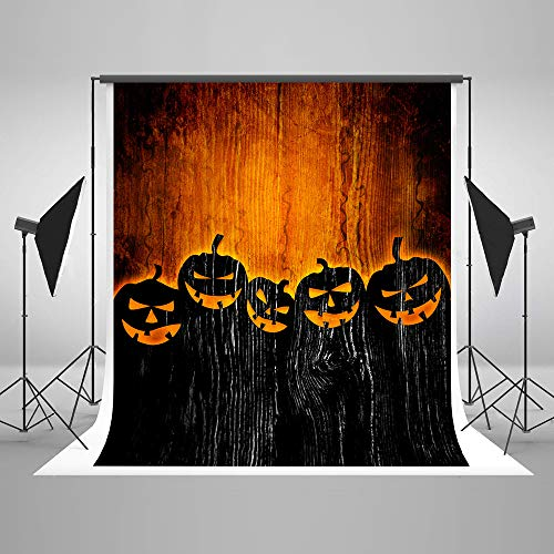 8x8ft Kate Halloween Photography Backdrops for Photography Happy Halloween Background for Photography Props Halloween Photo Backdrop Wood Background for Halloween Party Halloween Photo Background ()