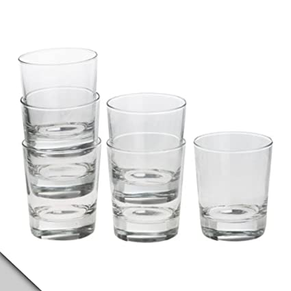 fe7c0c146a4 Amazon.com | IKEA - GODIS Glass, clear glass, H: 4