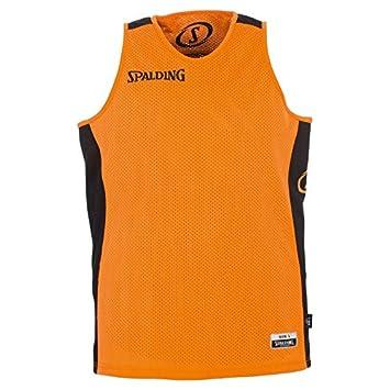 63ce2113c00 SPALDING - ESSENTIAL MAILLOT REVERSIBLE - Maillot de Basket - Confort  Maximal - orange noir