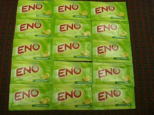 15 X Eno Fruit Salt Antacid Instant Acidity Relief Lemon (Lime) Flavour 5g X 15 ()