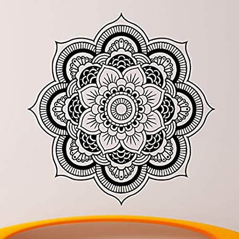 Yoga Sticke Pattern Lotus Decal Body-building Posters Vinilo ...