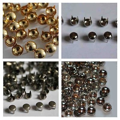 Trimming Shop 100 Round Nail Studs Rivets In Gold For Leather Clothing Bags Jeans Craft Punk Spikes Nail Head Stud Embellishment For Jeans Bags 7mm Gold
