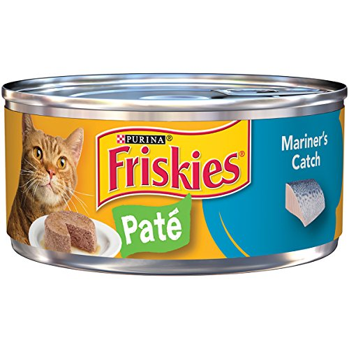 Purina Friskies Pate Mariner's Catch Cat Food - (24) 5.5 oz. Pull-top Can