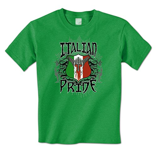 Wings Italia (Italian Pride - Italia Pride Italy Flag Crest Wings Mens T-Shirt XXL Kelly)