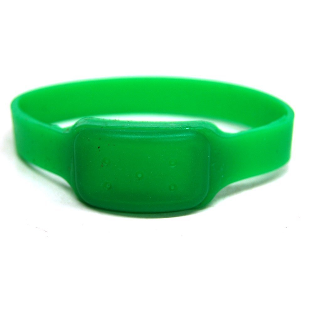 Bellus Mosquito Repellent Ankle Wrist Band 10 Pack Green for Kids and Adults University Tested Water-proof & Non-toxic Effective 4-6 Weeks, Adjustable Control Strength SAY GOOBYE TO SPRAYS AND DEET!
