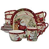 Certified International 89127 Holiday Wishes 16 Piece Dinnerware Set, Set of 4, One Size, Mulicolored Review